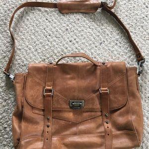 Tylie Malibu distressed leather messenger/satchel